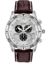 Citizen Men's Eco-drive Global Radio Controlled Chronograph Stainless Steel Watch, 43mm - Metallic