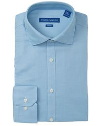 Vince Camuto - Slim-fit Stretch Turquoise Dobby Dress Shirt - Lyst
