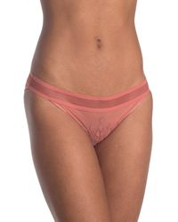 Chantelle Mesh Embroidered Bikini Panties - Multicolor