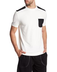 Quinn - Short Sleeve Knit Mesh Pocket Tee - Lyst