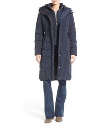 Cole Haan Cole Haan Bib Insert Down & Feather Fill Coat - Blue