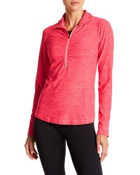 New Balance - Partial Zip Funnel Collar Pullover - Lyst