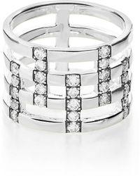 Ippolita Glamazon Stardust Pave Diamond Openwork Ring - 0.72 Ctw - Size 7 - Metallic