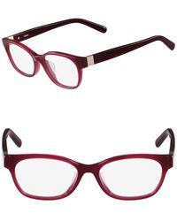Chloé 52mm Rectangle Optical Frames - Red