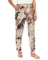 Wallis - Palm Print Trousers - Lyst