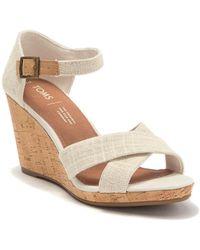 TOMS Sienna Cork Wedge Sandal - Natural