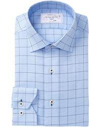 Lorenzo Uomo Oxford Regular Fit Dress Shirt - Blue