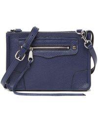Rebecca Minkoff Regan Leather Crossbody Bag - Blue
