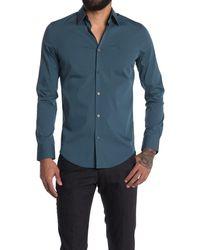 Calvin Klein Stretch Cotton Sport Shirt - Blue