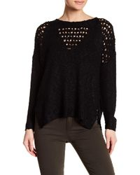 Lush - Distressed Side Slit Sweater - Lyst