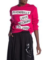 Love Moschino - Girocollo St. Psychobilly Pullover - Lyst