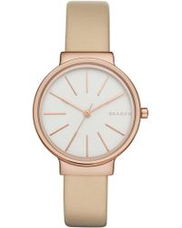 Skagen - Women's Ancher Leather Strap Watch, 30mm - Lyst