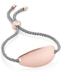 Monica Vinader Nura Friendship 18k Rose Gold Vermeil Id Slider Bracelet In Med Pink At Nordstrom Rack