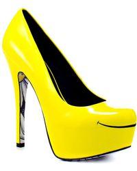 Taylor Says Smiles Pump - Yellow