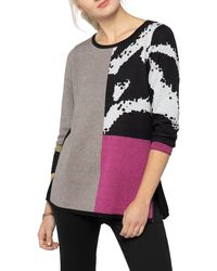 NIC+ZOE Block It Off Sweater - Multicolour