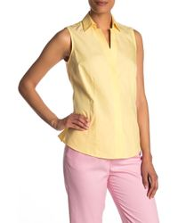 Foxcroft Taylor Sleeveless Blouse - Yellow