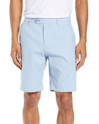 Ted Baker Beshor Slim Fit Stretch Cotton Shorts - Blue