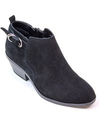 White Mountain Footwear - Sadie Suede Ankle Bootie - Lyst