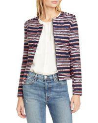 Helene Berman Judy Crop Tweed Jacket - Blue