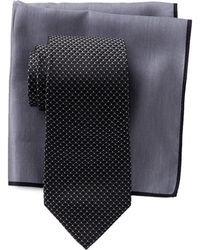 Ted Baker - Scallop Neat Silk Tie & Pocket Square Set - Lyst