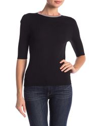 360cashmere - Haley Ribbed Ringer Tee - Lyst