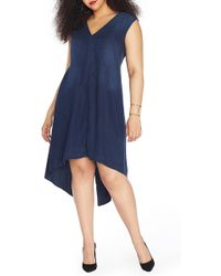 REBEL WILSON X ANGELS - Slit High/low Shift Dress (plus Size) - Lyst