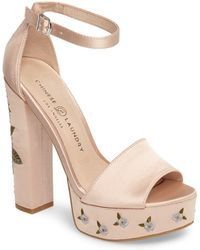 Chinese Laundry - Amy Flower Embroidered Platform Pump - Lyst