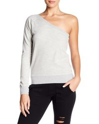 Pam & Gela - One Shoulder Knit Sweater - Lyst