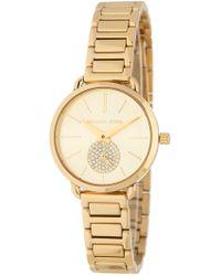 37cbcbb248b1 MICHAEL Michael Kors - Women s Portia Gold Quartz Stainless Steel Watch