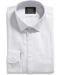 Nordstrom Smart Care Twill Slim Fit Button Down Shirt - Blue