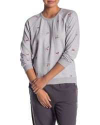 Lucky Brand - Embroidered Flowers Sweatshirt - Lyst