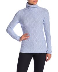 Kinross Cashmere - Cashmere Cable Funnel Neck Shirt - Lyst