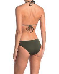 Becca Solid Triangle Bikini Top - Multicolor