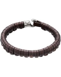 Uno De 50 | Hook Plaited Leather Bracelet | Lyst