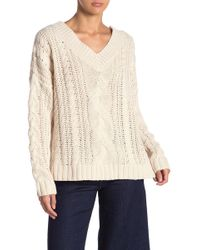 FAVLUX - Cable Knit Sweater - Lyst