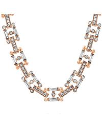 Steve Madden - Geometric Crystal Glass Necklace - Lyst