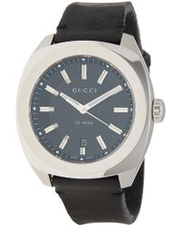 Gucci - Men's Gg2570 Leather Strap Watch, 44mm - Lyst
