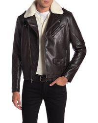 Michael Kors - Webster Waxy Faux Fur Moto Jacket - Lyst