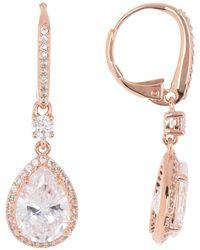 Nadri - 18k Rose-gold Plated Miss Pear Drop Earrings - Lyst