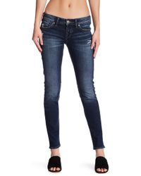 "Silver Jeans Co. - Aiko Midrise Skinny Jean - 31"" Inseam - Lyst"