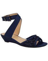 J. Reneé Belden Wedge Sandal - Wide Width Available - Blue