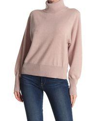Skull Cashmere Zara Skull Back Turtle Neck Sweater - Pink