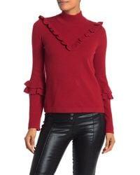 Rebecca Minkoff Shelley Ruffled Wool Blend Sweater - Red