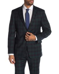 Tommy Hilfiger - Green Navy Tartan Two Button Notch Lapel Classic Fit Suit Separates Jacket - Lyst