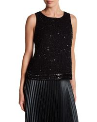 0921e5555e87ab Lyst - W118 by Walter Baker Woman Venus Sequined Crepe De Chine Tank ...