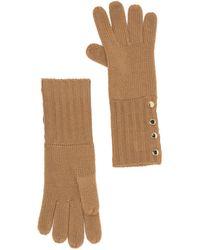 Michael Kors Ribbed Knit Gloves - Natural