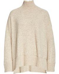 Club Monaco Oversize Turtleneck Sweater - Natural