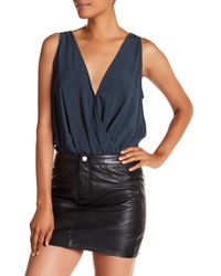 Lamarque - Fala Deep V Silk Bodysuit - Lyst