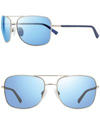Revo Summit S 61mm Navigator Sunglasses - Blue