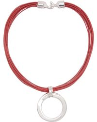 Simon Sebbag - Sterling Silver Round Pendant & Multi Strand Leather Cord Necklace - Lyst